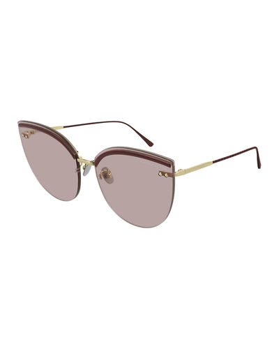 fc2cc2706 Bottega Veneta Rimless Cat-Eye Sunglasses