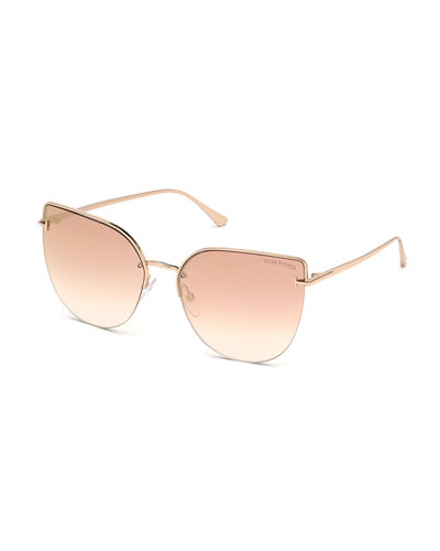 a500322f50 Ingrid Gradient Butterfly Sunglasses