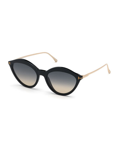 53ddd0c0dd9 Chloe Cat-Eye Acetate   Metal Sunglasses Quick Look. BLACK. TOM FORD
