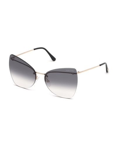 daf068567d5 Presley Rimless Butterfly Sunglasses Quick Look. GRAY  BROWN. TOM FORD