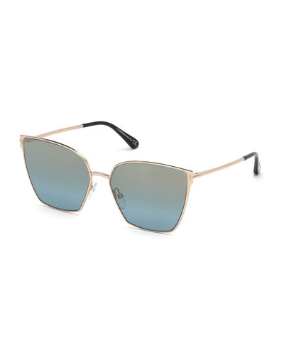 30a998bed8cb TOM FORD Helena Mirrored Square Sunglasses