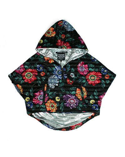 The Heroine Quilted Floral Poncho