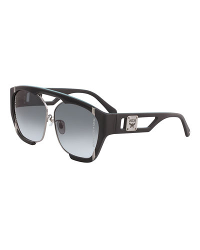 MCM Acetate & Metal Aviator Sunglasses