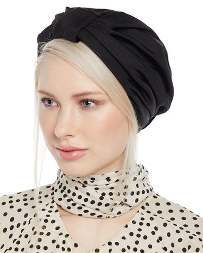 Silk Faille Knotted Full Turban