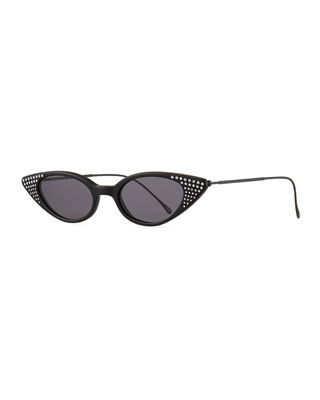 Marianne Crystal Studded Cat-Eye Sunglasses