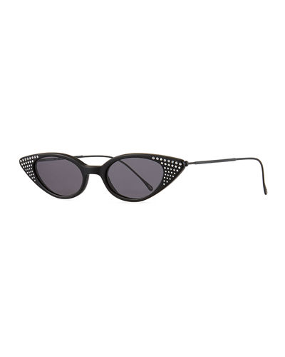 c36d01e3c1 Marianne Crystal Studded Cat-Eye Sunglasses