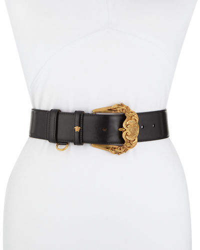 Baroque Buckle Leather Belt