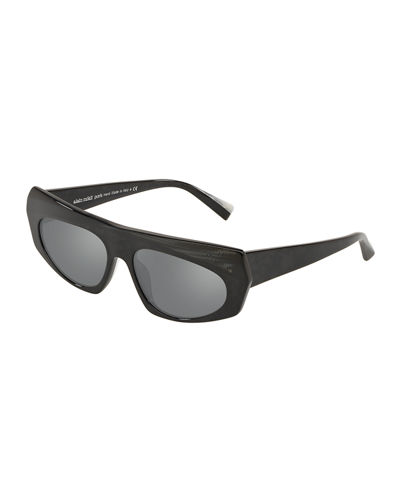 Pose Mixed Acetate Shield Sunglasses