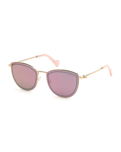 Mirrored Metal Butterfly Sunglasses