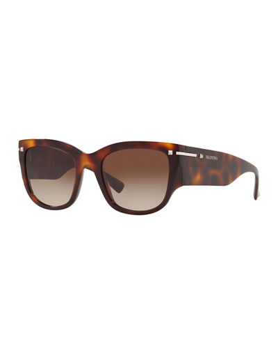 127594b3a5d8 Square Chunky Acetate Sunglasses Quick Look. Valentino