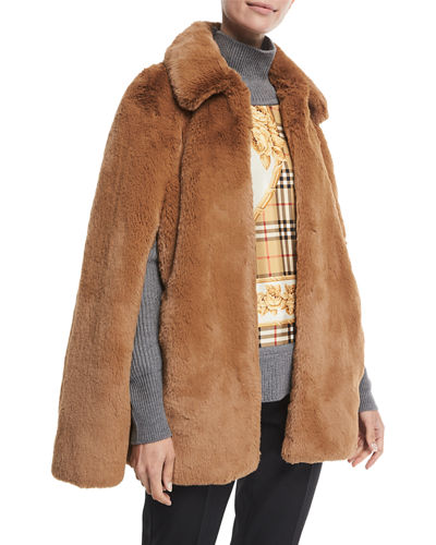 Allford Faux-Fur Cape