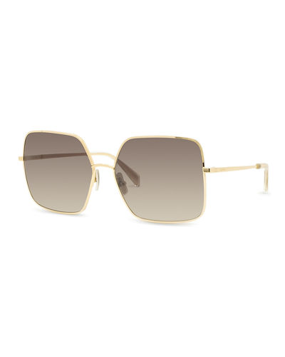 Square Gradient Metal Sunglasses