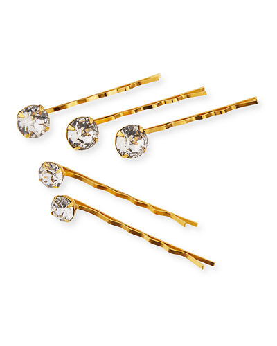 Gia Swarovski Crystal Bobby Pins  Set of 5