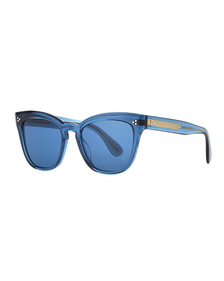 Oliver Peoples Sunglasses MARIANELA ROUNDED ACETATE BUTTERFLY SUNGLASSES