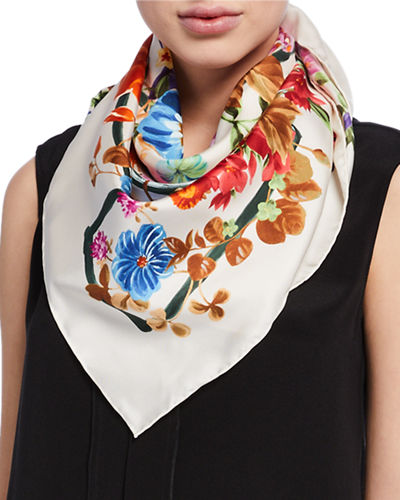 Small Handkerchief,Print 100/% Silk Sunflowers and Butterflies Printed Square Silk Scarf Square The New 8536