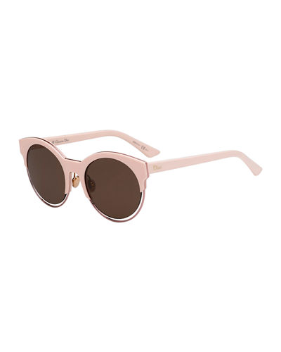 Sideral 1 Cat-Eye Sunglasses  Havana/Rose