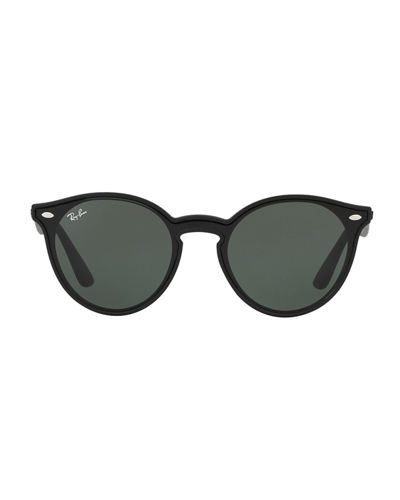 03c7ba59dad Ray-Ban Round Lens-Over-Frame Plastic Sunglasses