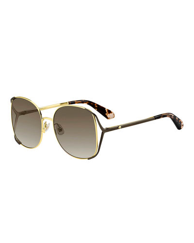 emyleegs metal square sunglasses
