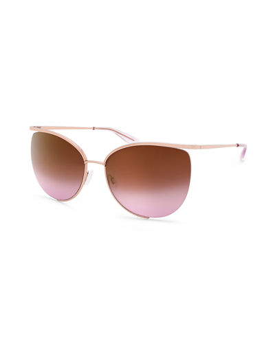 Akua Semi-Rimless Cat-Eye Sunglasses