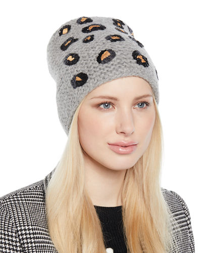 Bengal Knit Embellished Beanie Hat