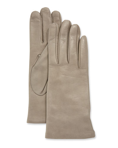 be1008fa44c0 Cashmere-Lined Napa Leather Gloves