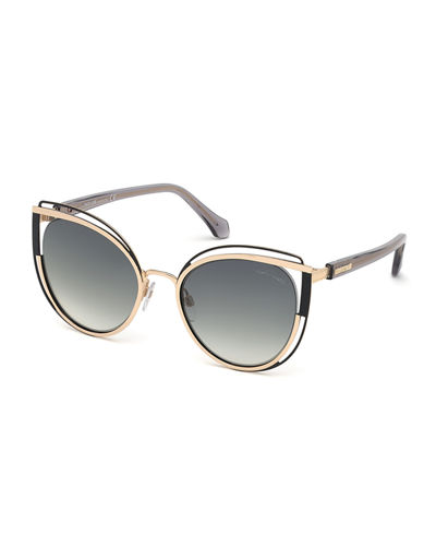 Cutout Cat-Eye Metal Sunglasses