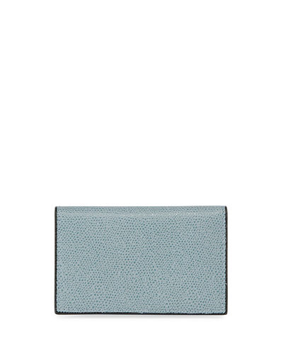 Saffiano Pebbled Business Card Case
