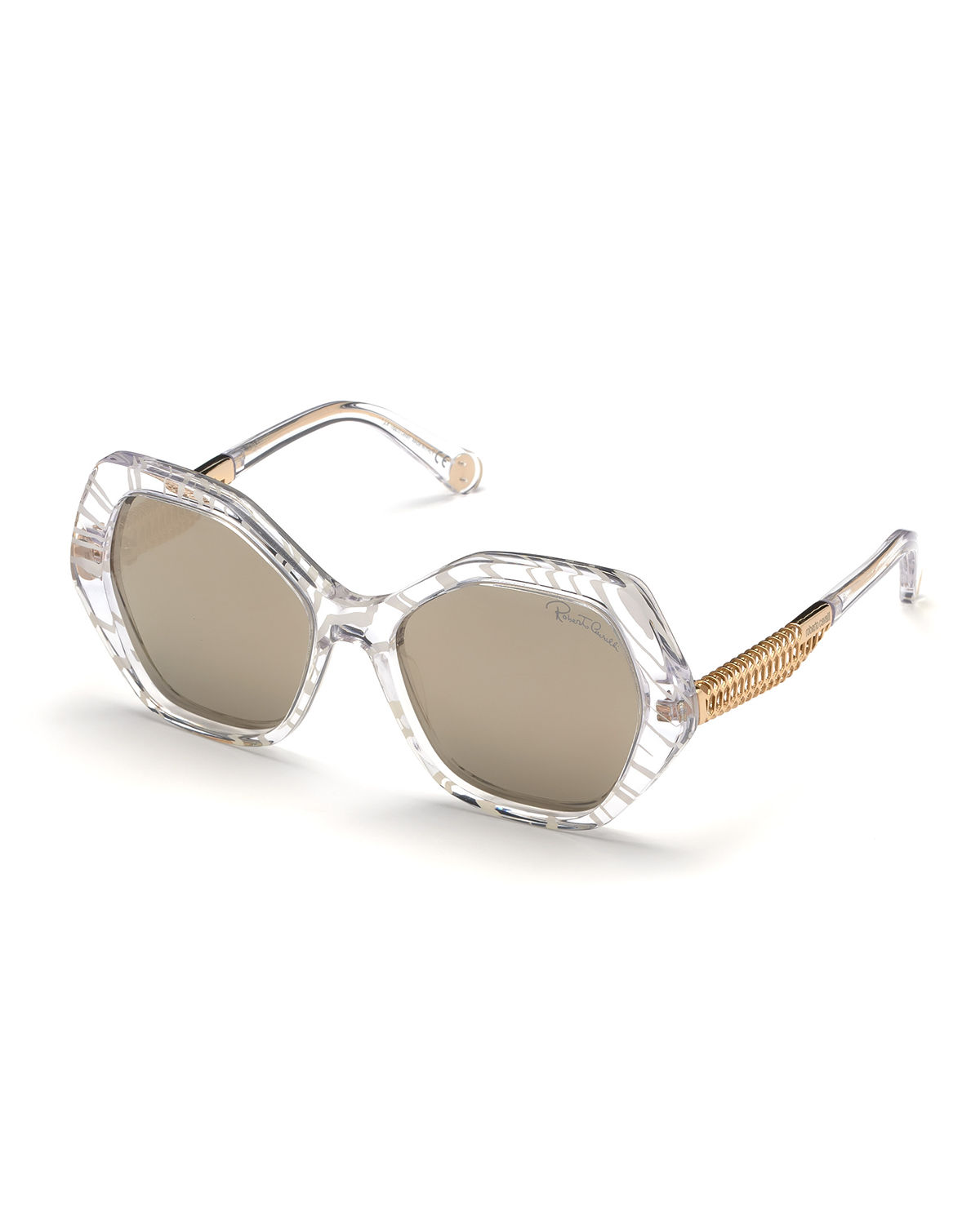 Roberto Cavalli Sunglasses ACETATE & METAL ROUND SUNGLASSES