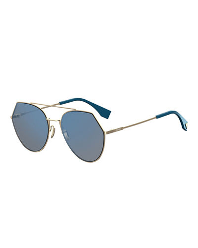 Eyeline Mitered Aviator Sunglasses