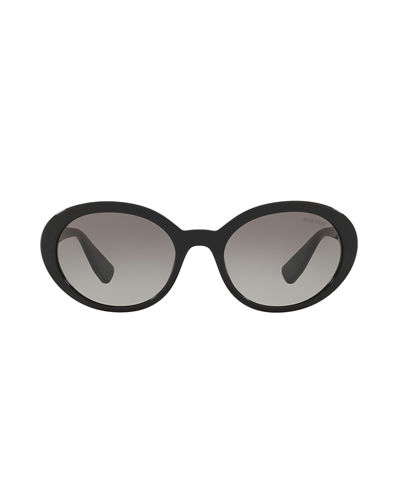 Mirrored Acetate Oval Sunglasses