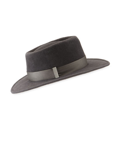 Small Brim Rabbit Felt Fedora Hat