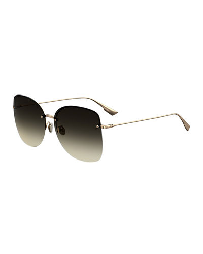 DiorStellaire7 Rimless Butterfly Sunglasses