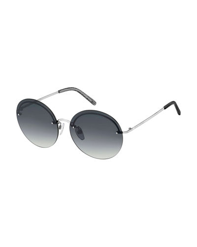 Rimless Round Stainless Steel Sunglasses