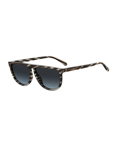 Flattop Rounded Acetate Sunglasses