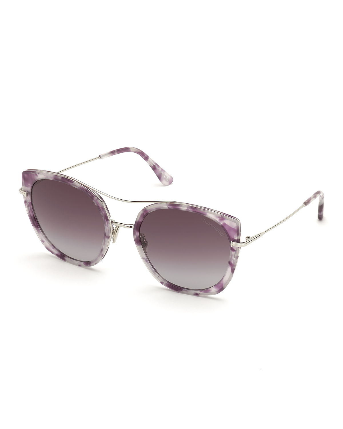 Tom Ford Sunglasses JOEY METAL CAT-EYE SUNGLASSES