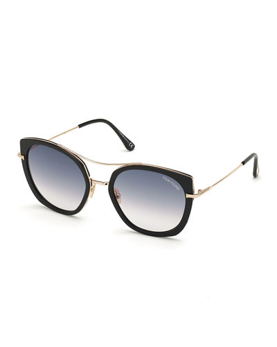 Joey Metal Cat-Eye Sunglasses