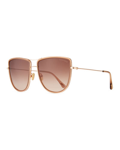 Round Flattop Metal Sunglasses