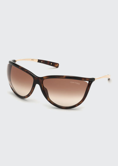 Gradient Shield Acetate Sunglasses
