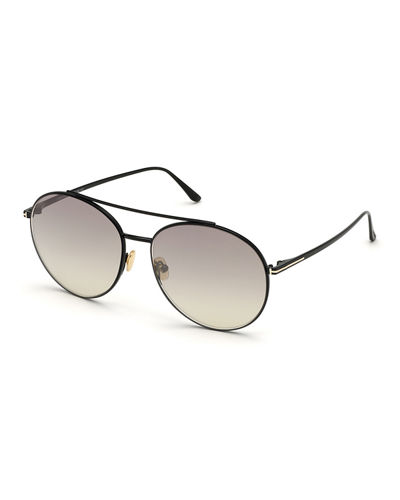 Round Metal Mirrored Sunglasses