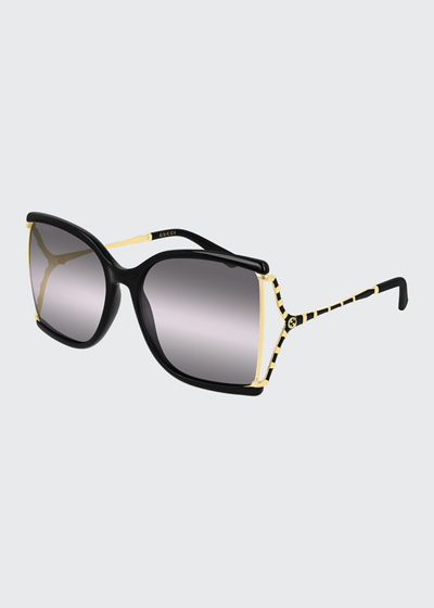Square Sunglasses w/ Clear Lenses