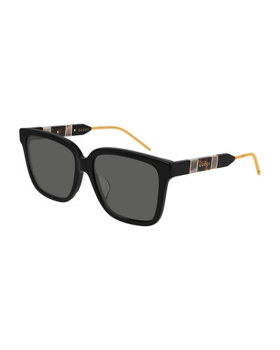 Square Web Temples Sunglasses