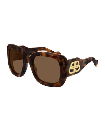 Chunky Square Logo Sunglasses