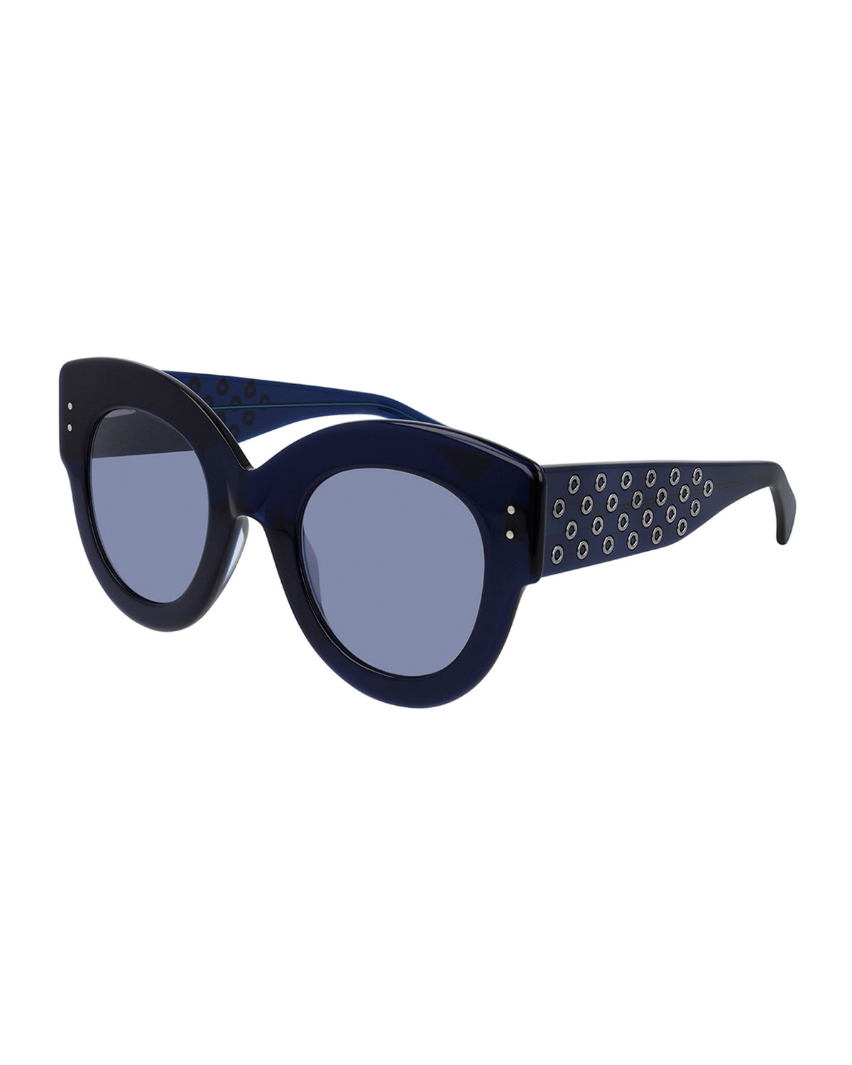 Alaïa Sunglasses ROUND STUDDED ACETATE SUNGLASSES