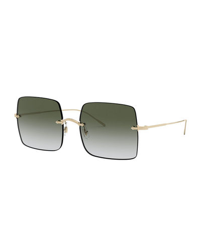 Oishe Rimless Square Sunglasses