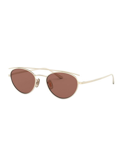 Hightree Titanium Oval Sunglasses