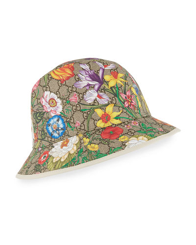 GG Supreme Flora Bucket Hat