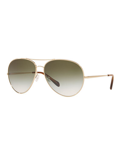 Sayer Metal Aviator Sunglasses