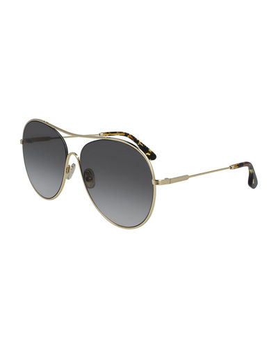 Metal Loop Aviator Sunglasses