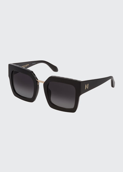 Thick Acetate Square Sunglasses
