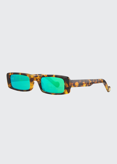 Trouble Slim Rectangle Acetate Sunglasses
